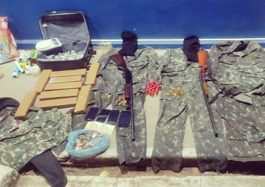 Drogas, armas e munições são apreendidos pela CIPE em Rio de Contas