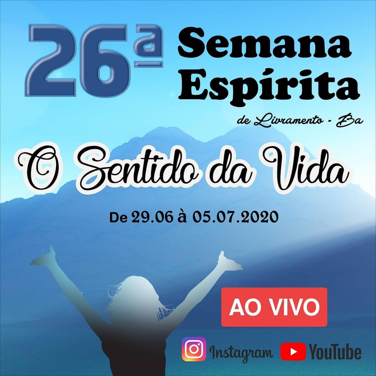 Centro Espírita de Livramento cria redes sociais para transmissão da 26ª Semana Espírita