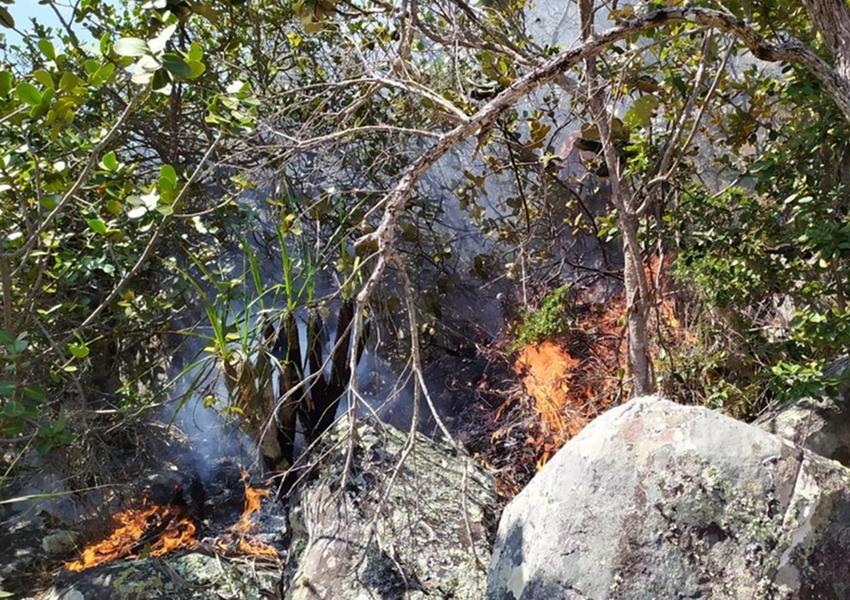 Incêndio florestal atinge Rio de Contas, na localidade morro do Bittencourt