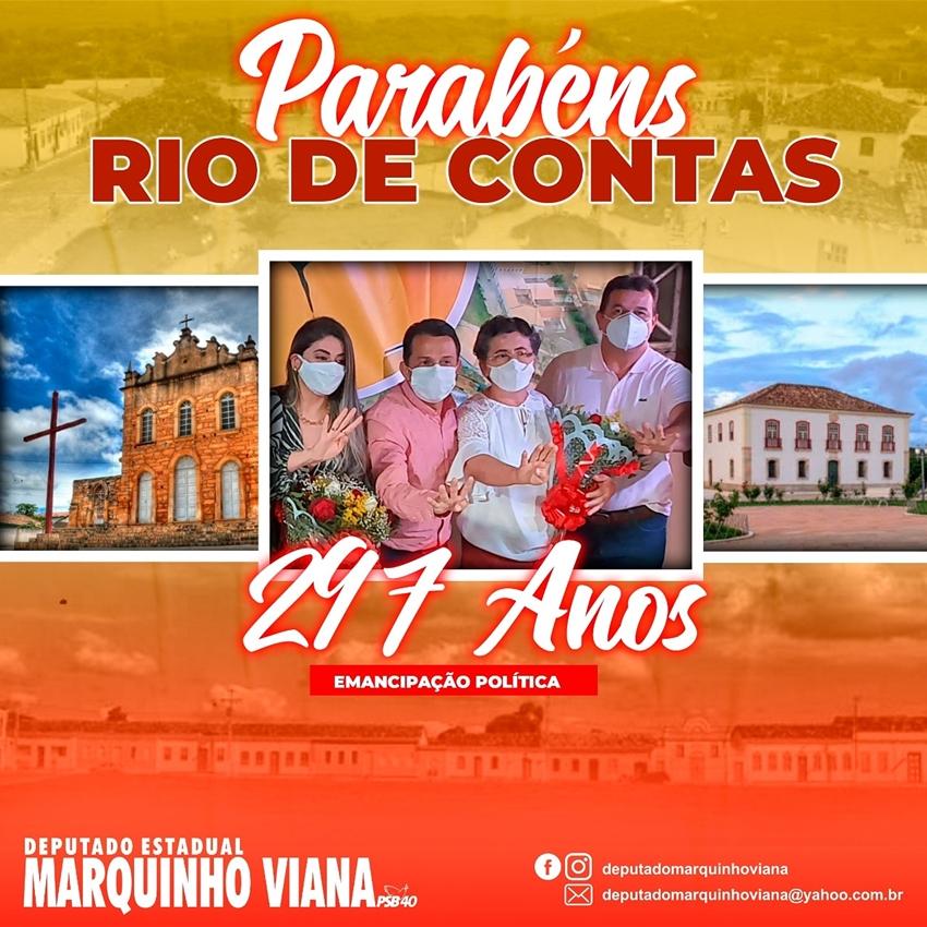 Deputado Marquinho Viana parabeniza Rio de Contas pelos 297 anos de emancipação política