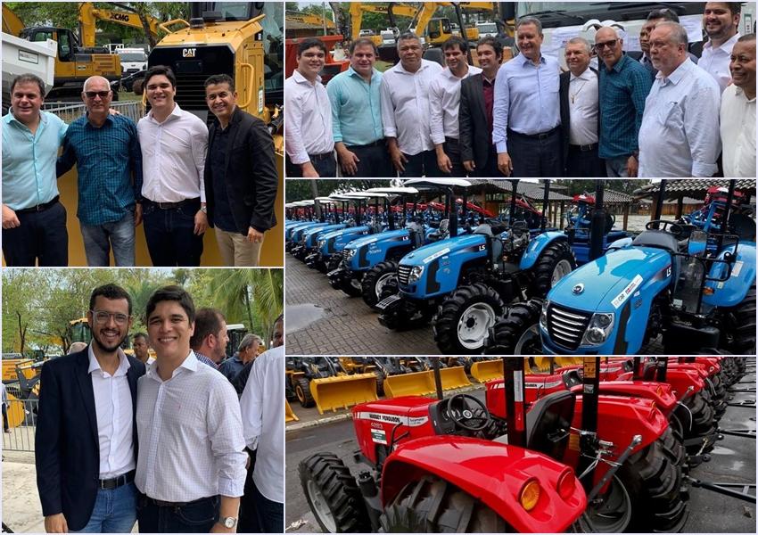 Deputado Vitor Bonfim entrega equipamentos para cidades do interior