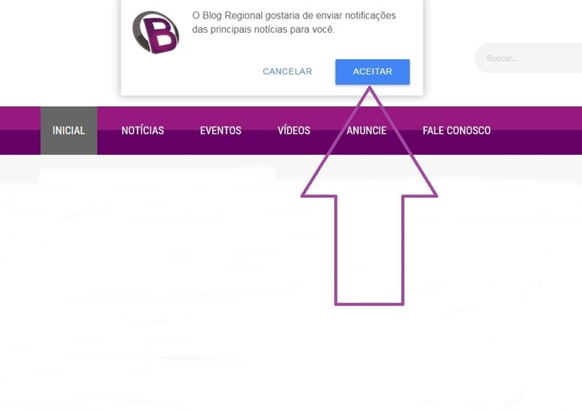 Usuários podem receber notificações a cada nova matéria postada no Blog Regional