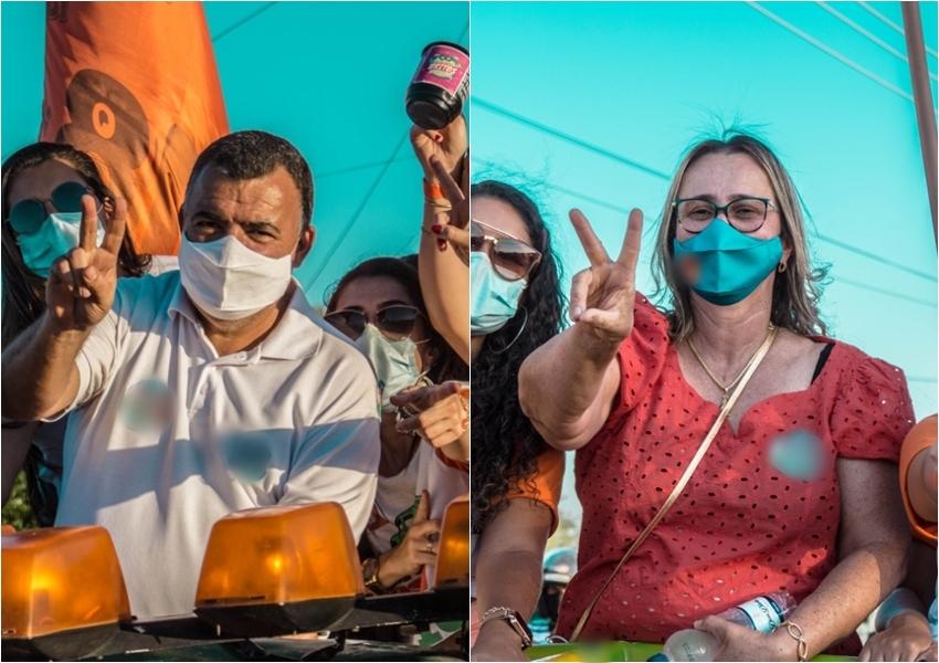 Ricardinho e Joanina abrem corrida eleitoral de Livramento com carreata e vídeo de boas-vindas