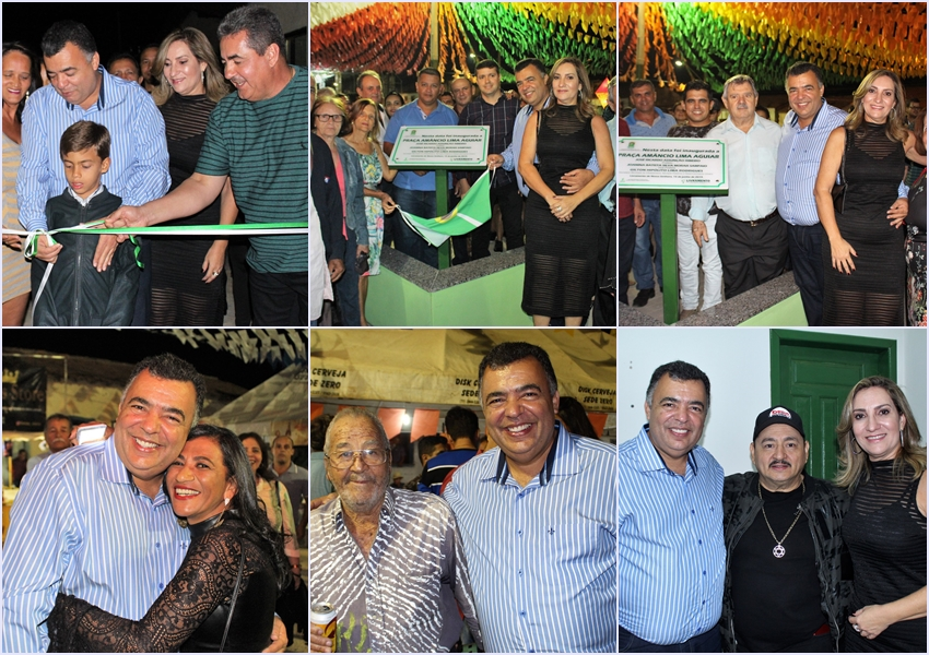 Livramento: Prefeito entrega ruas pavimentadas e Praça Amâncio Lima Aguiar na Rua do Areião