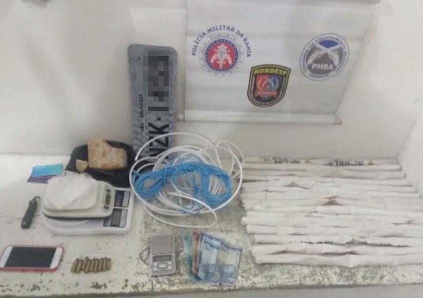 Grupo é preso com dinamite e drogas em Vitória da Conquista