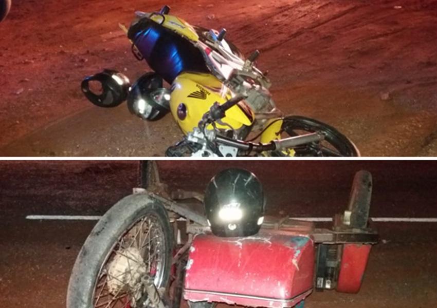 Brumado: três pessoas ficam feridas após acidente envolvendo motocicletas na comunidade de Lagoa Funda