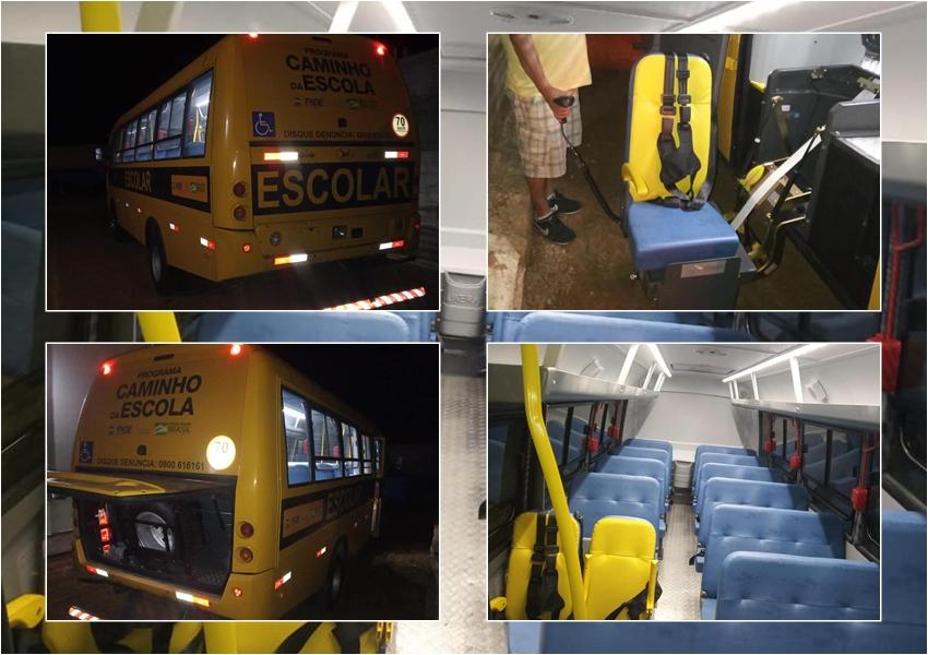 Governo municipal de Dom Basílio recebe ônibus do Programa Caminho da Escola