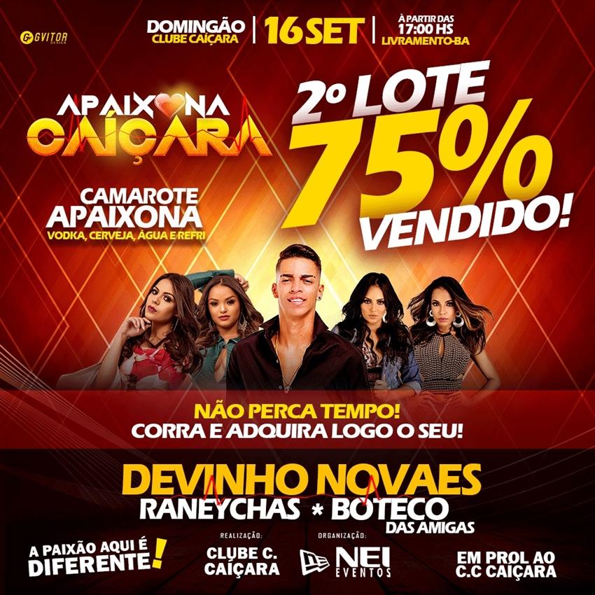 Com mais de 75% dos ingressos vendidos no segundo lote,  Apaixona Caiçara deve bater recorde de público em Livramento