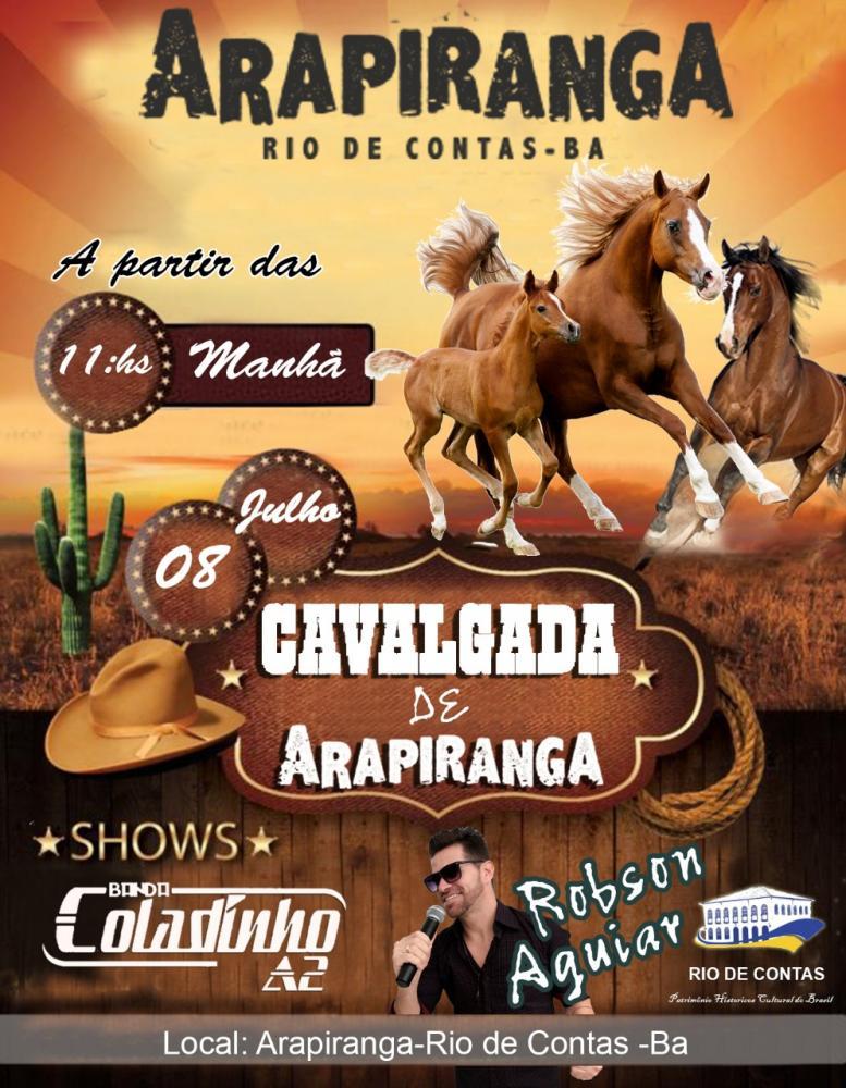 Neste domingo acontecerá a tradicional Cavalgada de Arapiranga