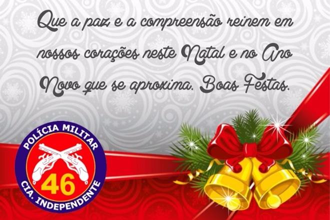 Mensagem de Natal da 46ª Companhia Independente de Polícia Militar