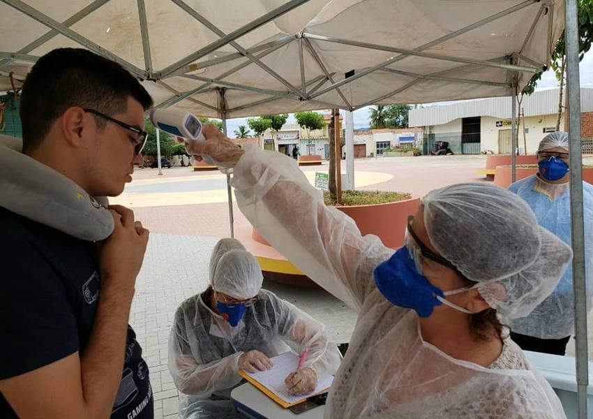 Dom Basílio: Prefeitura monta Barreira Sanitária para conter avanço do Coronavírus