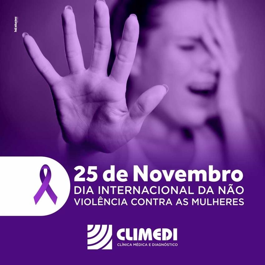 Climedi: Dia 25 de novembro Dia Internacional da Não-Violência contra a Mulher