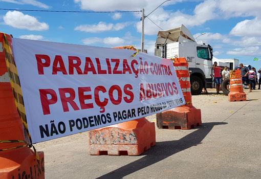Manifestação dos Caminhoneiros entra no 6º dia em Brumado