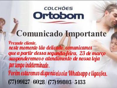 Coronavírus: Loja Ortobom atende decreto e fecha as portas por tempo indeterminado