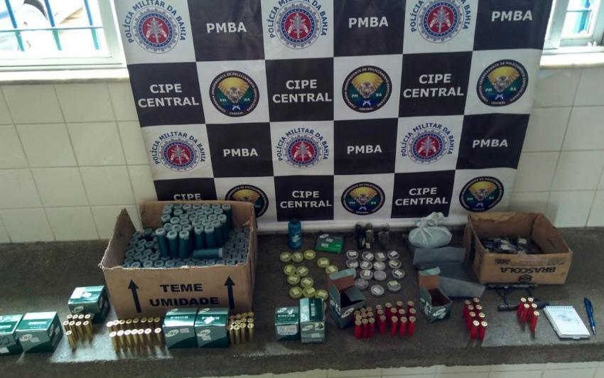 Ituaçu: Após denúncia anônima homem é preso suspeito de vender munições ilegalmente