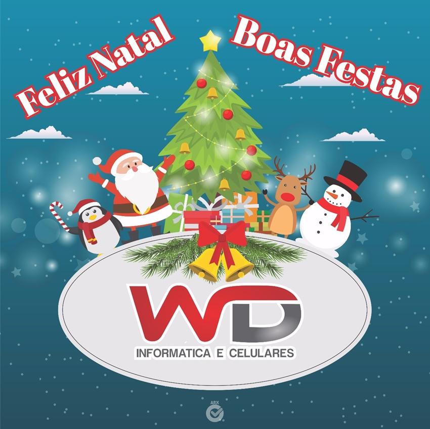 A WD Informática e Celulares deseja aos seus clientes e amigos um Feliz Natal