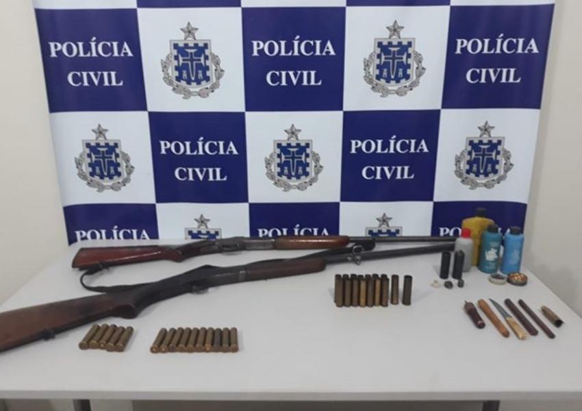 Livramento: Policia Civil prende homem por porte ilegal de arma de fogo e violência doméstica em Itanagé