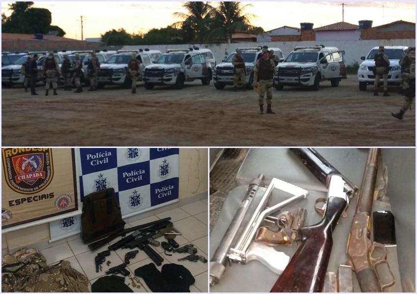 Polícia desmontada quadrilha de roubo a banco e pistolagem em Xique-Xique
