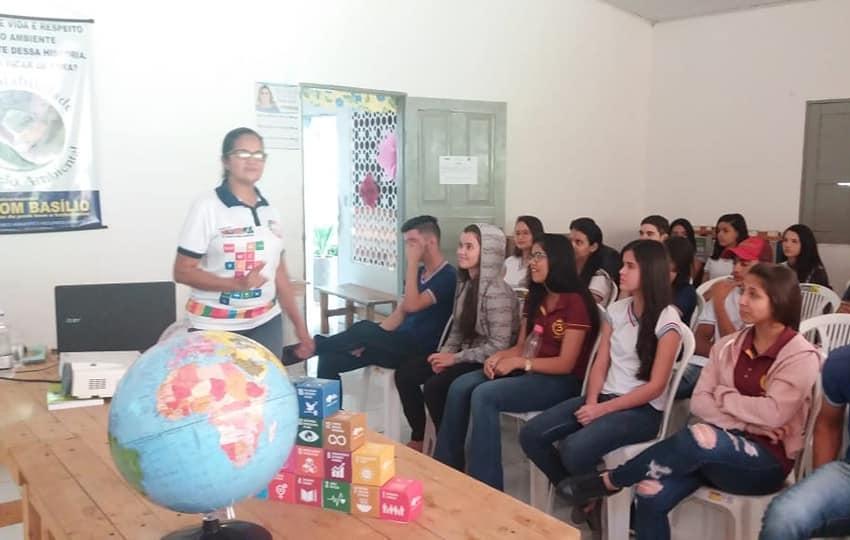 Dom Basílio: Escola realiza palestra sobre Desenvolvimento Sustentável