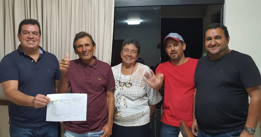 Deputado Marquinho Viana participa de ato de filiação dos pré-candidatos a vereador em Barra da Estiva