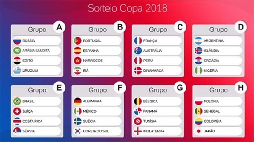 Copa do Mundo: Brasil vai pegar Suíça, Costa Rica e Sérvia na 1ª fase