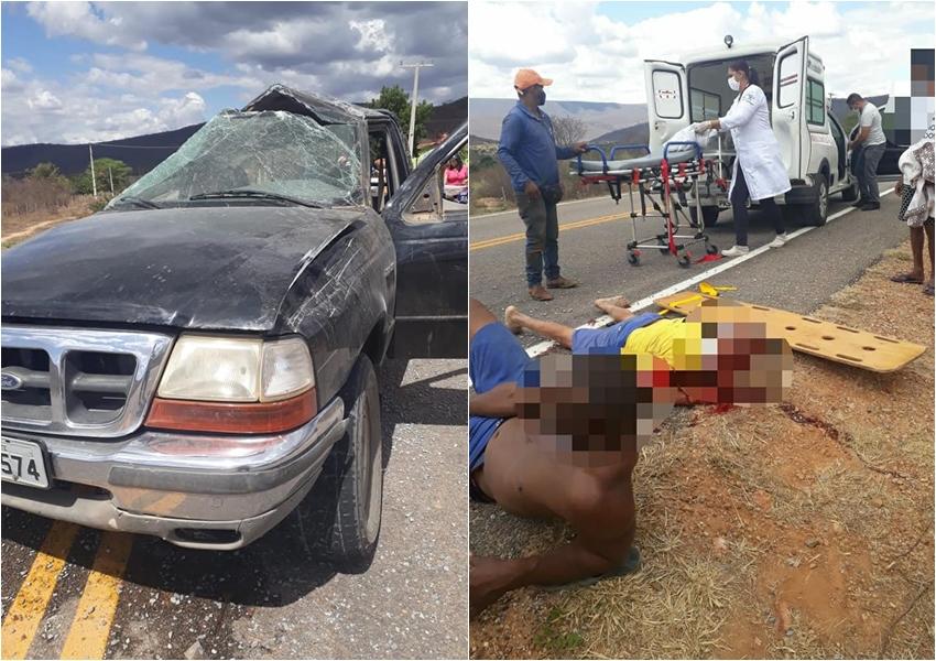 Acidente próximo a Abaíra deixa três feridos