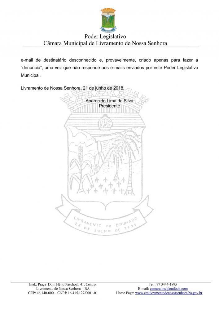 Livramento: Câmara emite nota de esclarecimento sobre matéria de servidores efetivos publicada em site