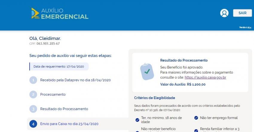 Dom Basílio: Companheira do vereador Edy Frutas recebeu R$ 1.200,00 do Auxílio Emergencial