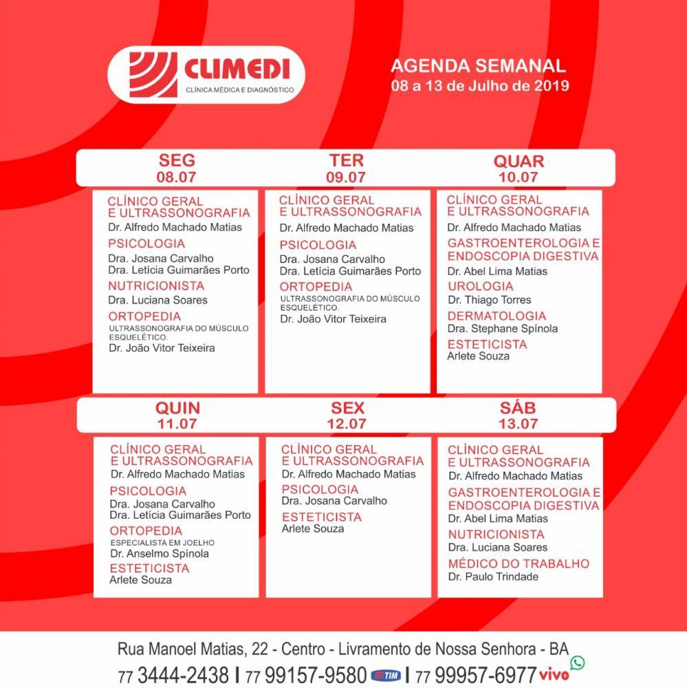Confira agenda da Climedi desta semana