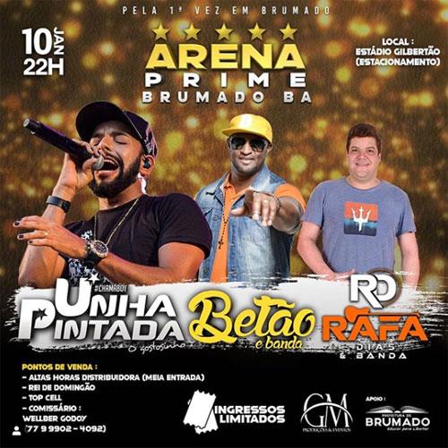 Arena Prime Brumado: Adquira seu ingresso em Livramento no Restaurante Bocas Grill
