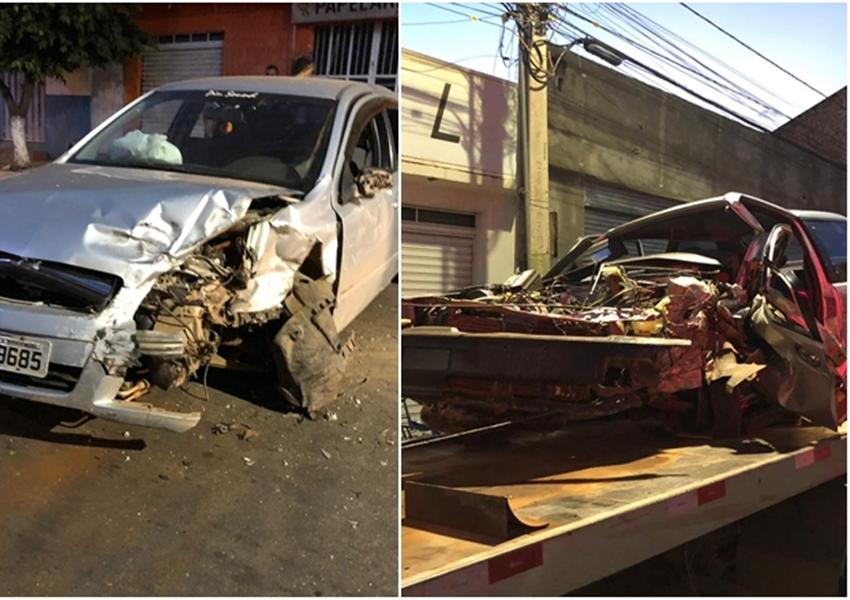 Homem fica preso as ferragens após colisão entre dois veículos em Livramento de Nossa Senhora