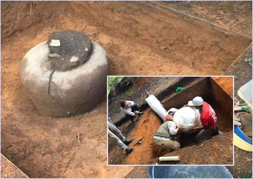 Arqueólogos descobrem urna indígena de 900 anos na Região da Serra da Barriga, em União dos Palmares (AL)