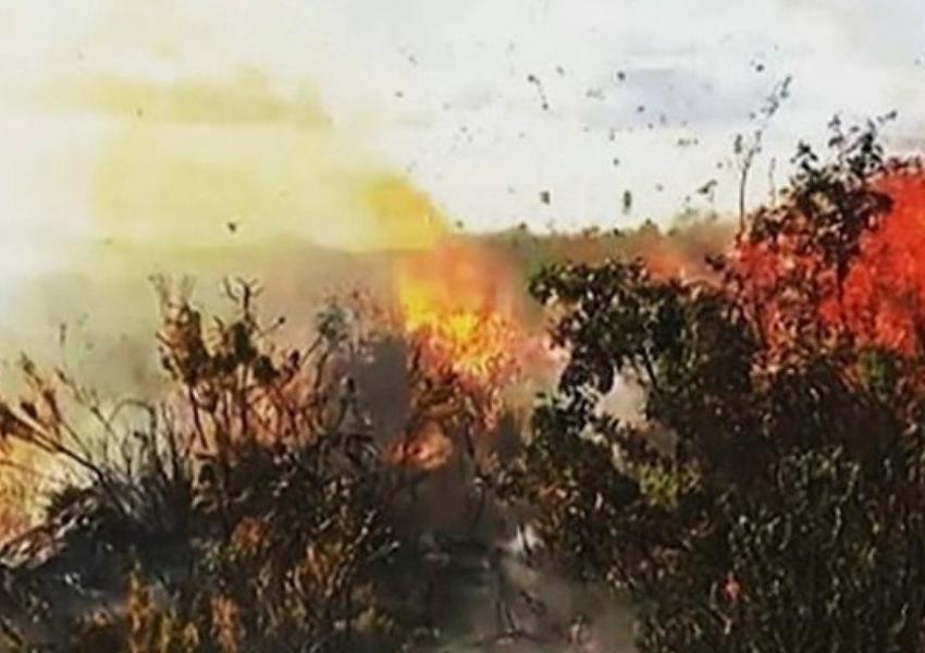 Incêndio que dura três dias atinge Serra da Tromba, região da Chapada Diamantina