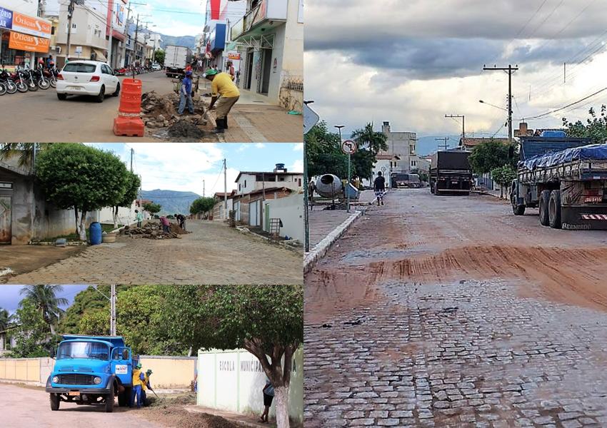Após as chuvas serviços de reparo são realizados em Livramento