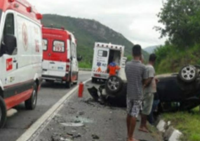 Comandante da Caesg sofre grave acidente na BR-116; Major e familiares estão hospitalizados