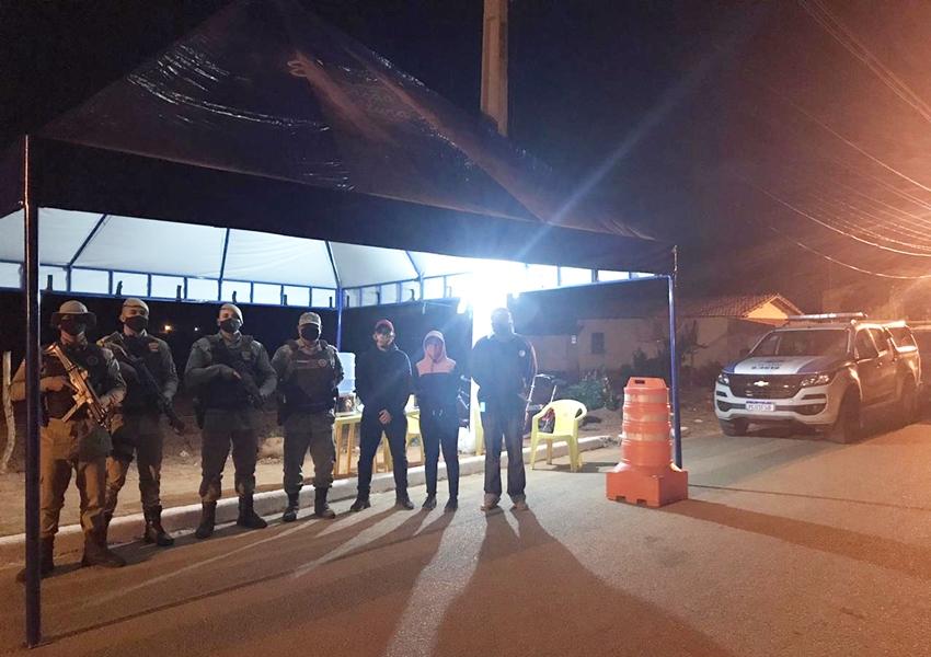 46ª CIPM monta operação em Rio de Contas para atendimento ao novo decreto municipal e apoio à vigilância sanitária