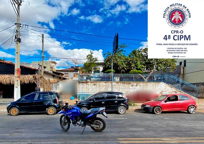 Macaúbas: Policiais apreendem 02 veículos com restrições de roubo/furto e 01veículo com adulteração no motor