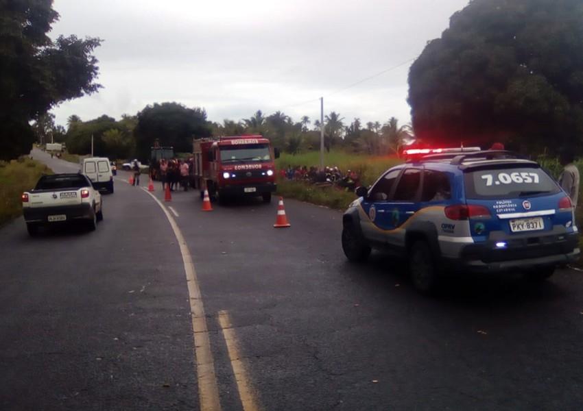 Alcobaça: Dois morrem e seis ficam feridos após acidente com caminhão