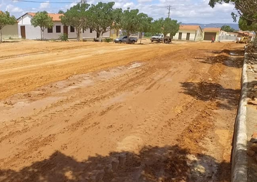 Obras de pavimentação asfáltica são iniciadas no Alto do Rosário em Dom Basílio