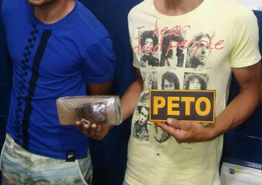 Polícia Militar apreende quase 1kg de maconha em Livramento; dois homens foram presos