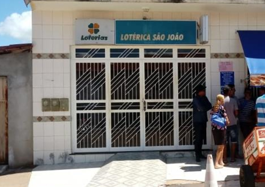 Roubo a lotérica é registrado em Dom Basílio
