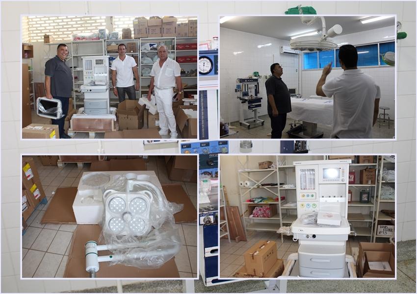 Prefeito entrega novos equipamentos para o centro cirúrgico do Hospital Municipal