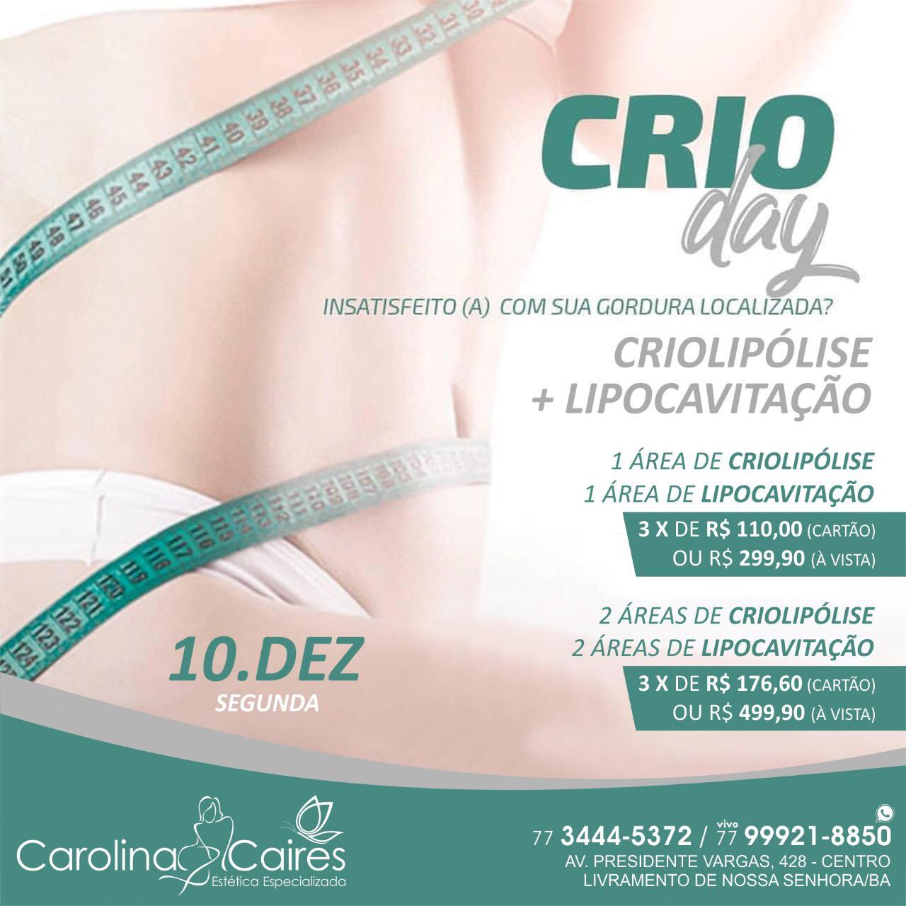 Dia 10 de Dezembro tem Crioday na Clínica  Mais Saúde Ambulatorial em Livramento