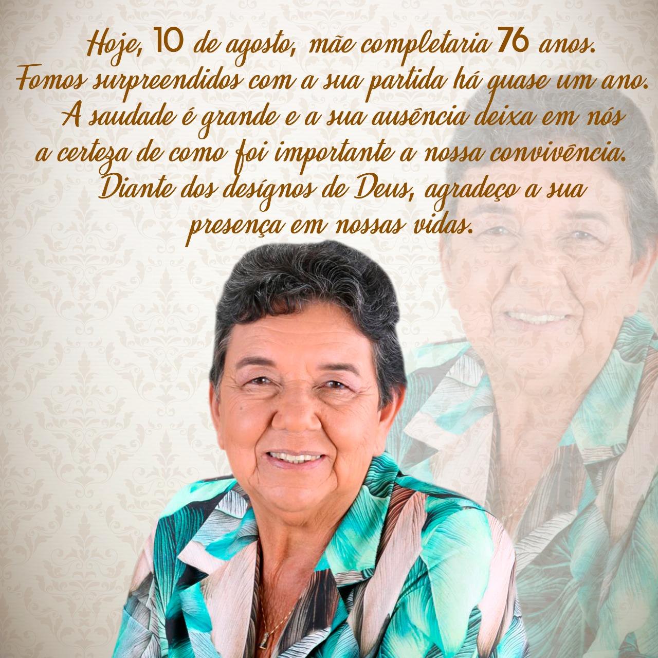 Deputado Marquinho Viana lembra os 76 anos de idade que a ex-prefeita Ana Lucia completaria hoje