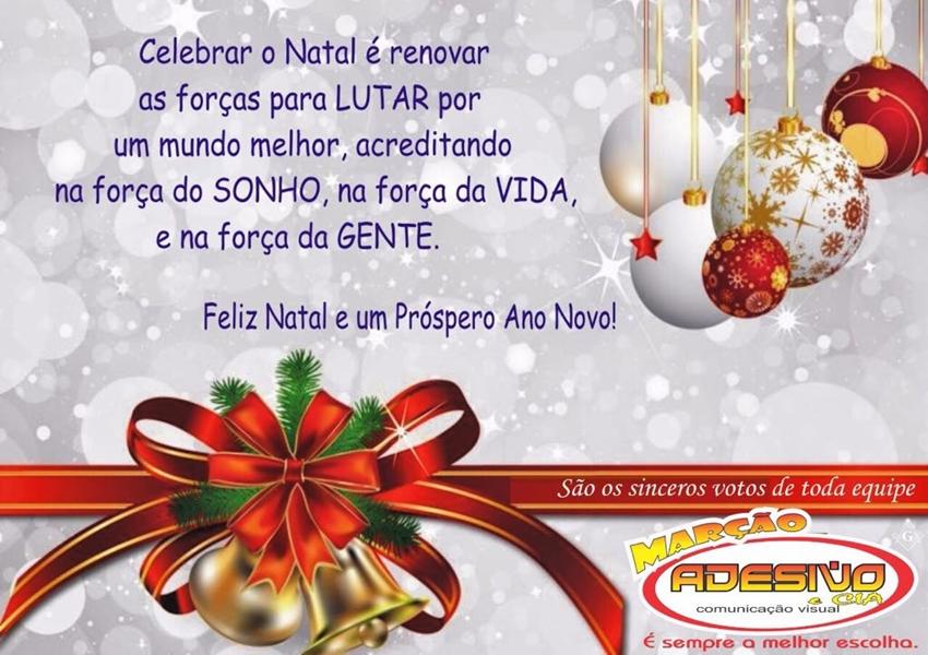 Marção Adesivo & CIA deseja aos seus clientes e amigos um Feliz Natal