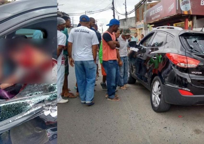 Feira de Santana: Ex-policial Militar e uma mulher são encontrados mortos dentro do carro