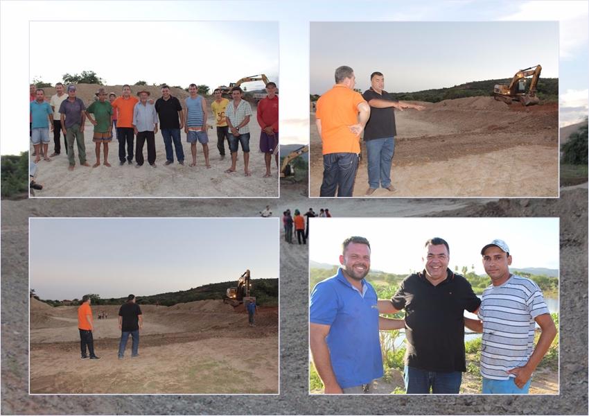 Livramento: Prefeito visita serviços de ampliação e reparos na Lagoa de Daniel