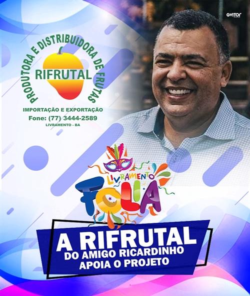Livramento Folia: Rifrutal é grande apoiadora do projeto: festa acontece em dezembro