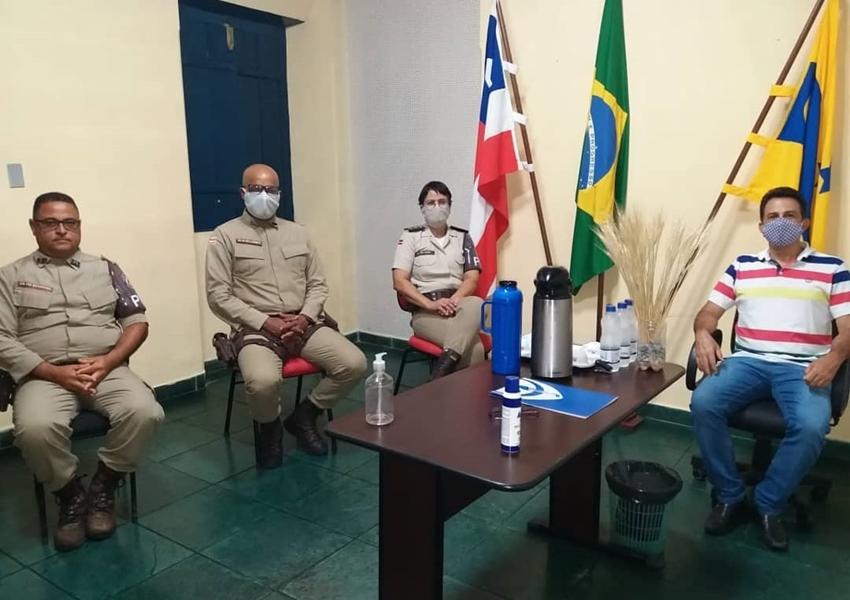 Major Cleise Delfino participa de reunião com prefeito de Rio de Contas