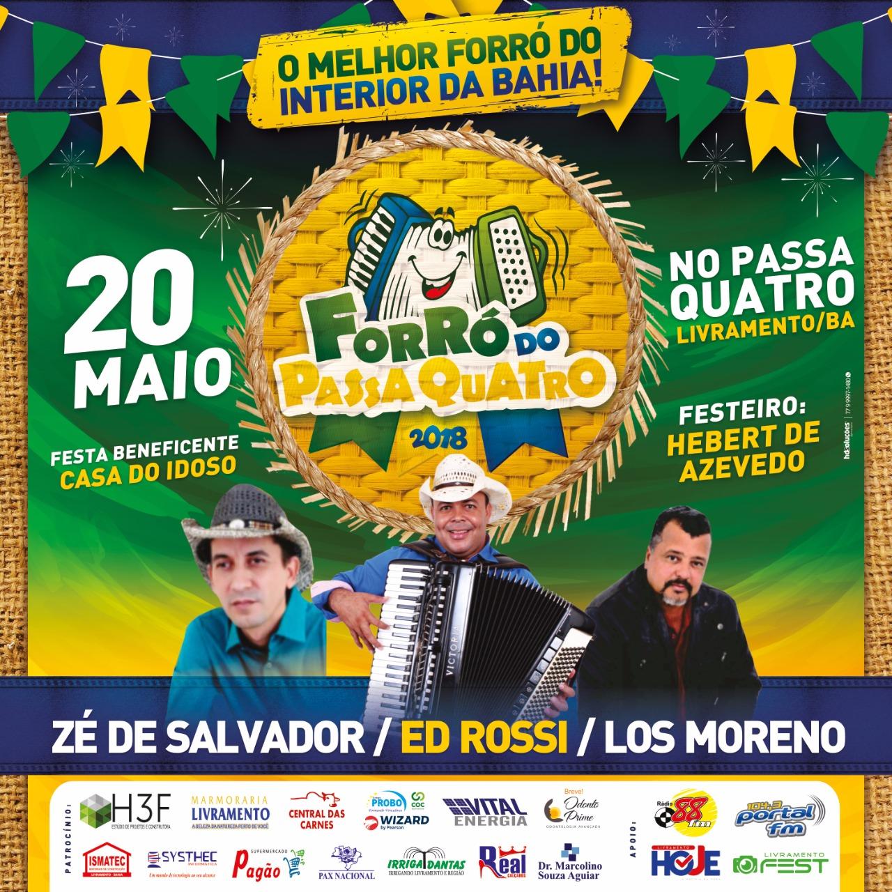 Livramento: Zé de Salvador, Ed Rossi e Los Morenos irão animar o segundo Domingo de  Sol do Passa Quatro